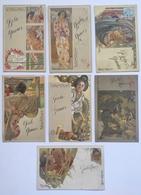 Illustrateur Illustration Hohenstein Iris - Art Nouveau 1900 - Japon Geisha Femme Asie - Lot De 7 CPA - Milan Ricordi - Other Illustrators