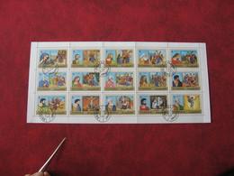 Fujeira 1970 -  Tableaux Peintures Sur Le Christianisme - Michel 559/573 - Feuille 15 TP  Grand Format 33 Cm X 15 Cm - Fujeira