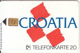 GERMANY - Croatia, TVM E.V.(O 082), Tirage 20000, 04/92, Mint - Duitsland