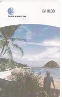 (CHIP NEGRO) TARJETA DE PANAMA DE CABLE & WIRELESS DE LA ISLA DE TABOGA - Panama