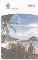 (CHIP ROJO) TARJETA DE PANAMA DE CABLE & WIRELESS DE LA ISLA DE TABOGA - Panama