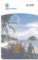 (CHIP DELANTE) TARJETA DE PANAMA DE CABLE & WIRELESS DE LA ISLA DE TABOGA - Panama