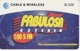 TARJETA DE PANAMA DE CABLE & WIRELESS DE B/3.00 DE FABULOSA ESTEREO - Panama