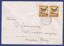 Brief Mehrfachfrankatur MiNr. 275 (br9775) - [7] Federal Republic