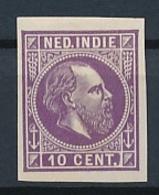 Nederlands Indië - 1868 - 10 Cent Willem III, Proef 12f - Lila - Niederländisch-Indien