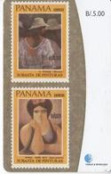 TARJETA DE PANAMA DE UNOS SELLOS DE PINTURA (STAMP-PAINTING-SELLO) - Panama