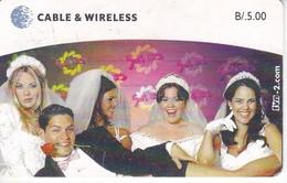 TARJETA DE PANAMA DE DE CABLE & WIRELESS DE TVN - SERIE BODAS - Panama
