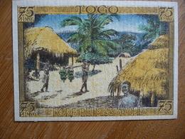 (3) Notgeld Deutsch-Hanseatischer Kolonialgedenktag 75Pfg Motiv Togo Dorf - Eerste Wereldoorlog