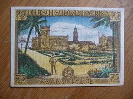 (3) Notgeld Deutsch-Hanseatischer Kolonialgedenktag 75Pfg DEUTSCHE SUDWESTAFRIKA 1921 - Eerste Wereldoorlog