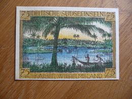 (3) Notgeld Deutsch-Hanseatischer Kolonialgedenktag 75Pfg DEUTSCHE SUDSEEINSELN 1921 - Eerste Wereldoorlog