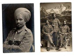 2 Cartes Postales Guerre 1914-18, Soldats  De L'Inde - Guerre 1914-18