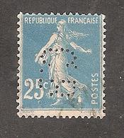 Perforé/perfin/lochung France No 140 C.B. Cie De Béthune - Gezähnt (Perforiert/Gezähnt)