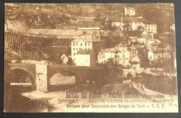 SAINTE-ENIMIE - Lozère - Hotel De Paris - Gabriel Bruno - Verso: Note De 18/06/1923 - Gorges Du Tarn