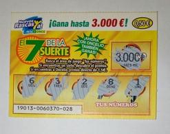 Billet De Loterie Instantanée,El 7 De La Suerte. Spain - Billets De Loterie