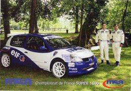 Championnat De France SUPER 1600  -  Renault Clio - Pilotes: Delebecque/Jordan   -  CPM - Rally Racing
