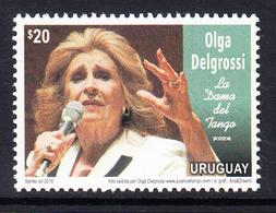 2016 Uruguay Tango Delgrossi Music Complete Set Of 1 MNH - Uruguay