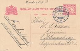 Nederlands Indië - 1915 - 5 Cent Cijfer, Briefkaart G23 Van KB PADANGPANDJANG Naar Braunschweig / Deutschland - Indes Néerlandaises