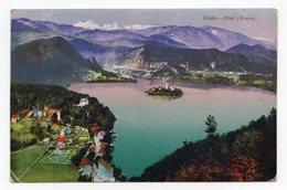 1920 KINGDOM OF SHS,SLOVENIA,BLED TO BELGRADE,CHAIN BREAKERS,VERIGARI,POSTCARD, USED - Slovenia
