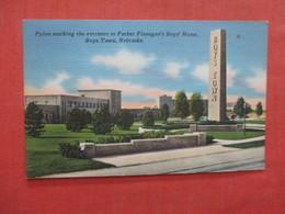 Plyon Marking Entrance Father Flanagan's Boys Home   Boys Town   - Nebraska >   Ref 3983 - Autres