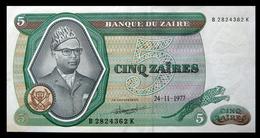 # # # Banknote Zaire 5 Zaires 1977 AU # # # - Zaïre