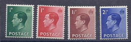 200033584  INGLATERRA.  YVERT   Nº  205/8  **/MNH - 1902-1951 (Kings)