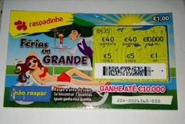 Billet De Loterie Instantanée, Ferias Em Grande. Portugal - Billets De Loterie