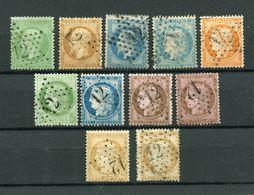 !!! CERES, EMPIRE, SELECTION D'OBLITERATIONS ETOILE 12, BD BEAUMARCHAIS - 1849-1876: Période Classique