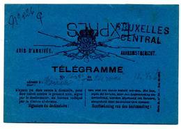 Avis ArrivéeTélégramme Expres Bruxelles Central 1892 - Télégraphes