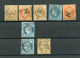 !!! CERES, EMPIRE, SELECTION D'OBLITERATIONS ETOILE 16, RUE DE PALESTRO, RUE DE TURBIGO - 1849-1876: Période Classique
