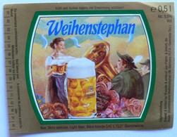 THEME MUSIQUE / PERSONNAGES : ETIQUETTE BIERE WEIHENSTEPHAN - NEUVE - Bière