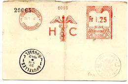 Carte Commerciale De Bruxelles (18.09.1942) Pour Antwerpen  HC Caducée 30 C - Marcophilie