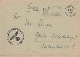DR Feldpost Posen 1942 Stellv. Generalkommando XXI. - Allemagne
