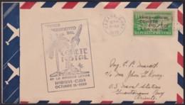 1939-FDC-50 CUBA FDC 1939 BLACK CANCEL COHETE POSTAL ROCKET TO GUANTANAMO MILITAR STATION. - FDC