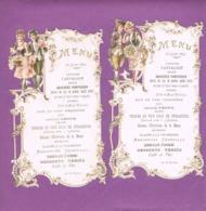 2 MENUS (découpis). 26 JUILLET 1897. - Menus