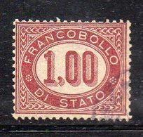 1152 490 - REGNO 1875 ,  Servizio 1 Lira N. 5  Usato Di Favore  (M2200) - 1861-78 Vittorio Emanuele II