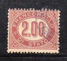 1153 490 - REGNO 1875 ,  Servizio 2 Lira N. 6  Usato Di Favore  (M2200) - 1861-78 Vittorio Emanuele II