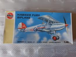 Maquette Avion Militaire-en Plastique-1/48 Airfix Hawker Fury Biplane    Ref 04103 - Airplanes