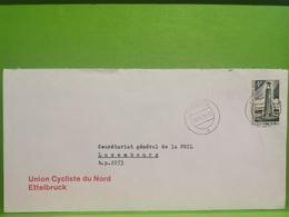 Enveloppe Oblitéré, Union Cycliste Du Nord Ettelbruck 1974 - Briefe U. Dokumente