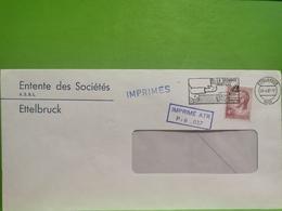 Enveloppe Oblitéré, Entente Des Sociétés Ettelbruck 1987 - Lettres & Documents