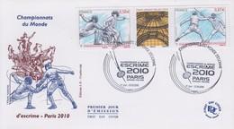 Enveloppe  FDC  1er  Jour   FRANCE    Championnat  Du  Monde  D' Escrime   PARIS    2010 - 2010-....