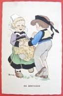 RENAUDIN Illustrateur EN BRETAGNE Danse Couple  Folklore - Other Illustrators