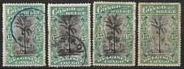 0Ra-762: N°66: 4 Zegels: Restje - Congo Belga