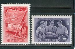 HUNGARY - 1951. Month Of Friendship - Between Hungary And Russia Cpl.Set MNH!! Mi:1158-1159. - Unused Stamps
