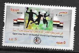 EGYPT, 2019, MNH,SPORTS, HANDBALL, EGYPT WINNERS OF U-19 HANDBALL WORLD CHAMPIONSHIP, 1v - Handbal