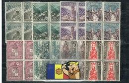 TIMBRE ANDORRE ESPAGNOL YVERT 53-60  8V  EDIFIL: 60-67  Bloc 4 - Andorre Espagnol