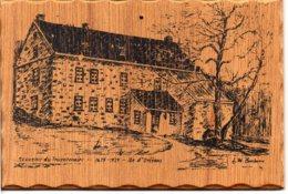 Canada - L'ÎLE D'ORLÉANS - Souvenir Du Tricentenaire, Moulin Rue Royale - Carte Imprimée Sur Bois épais - Quebec
