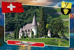 Postcard, REPRODUCTION, Municipalities Of Switzerland, Yvorne - Carte Geografiche