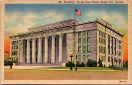 Kansas Kansas City Wyandotte County Court House Curteich - Kansas City – Kansas