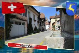 Postcard, REPRODUCTION, Municipalities Of Switzerland, Concise 12 - Maps