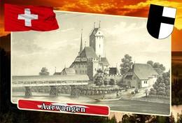 Postcard, REPRODUCTION, Municipalities Of Switzerland, Aarwangen - Landkaarten